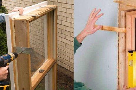 Монтаж деревянных окон, лоджий